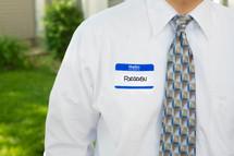 forgiven name tag
