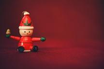 wooden Santa Christmas ornaments