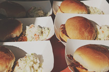 BBQ sliders and slaw