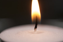 Macro shot of a candle flame.