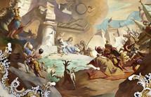 Holy Family fresco artwork