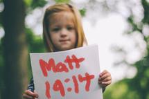 Matthew 19:14 sign
