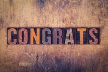 word congrats