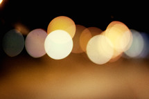 Bokeh glow lights