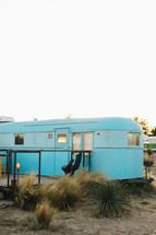 camper in the desert