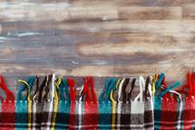 plaid Christmas scarf