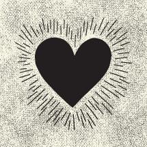 grunge hand drawn heart.