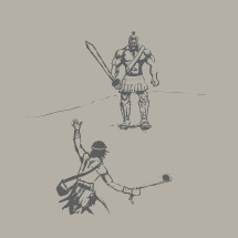 David and Goliath illustration