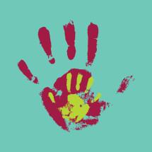 nurturing kids hand prints.