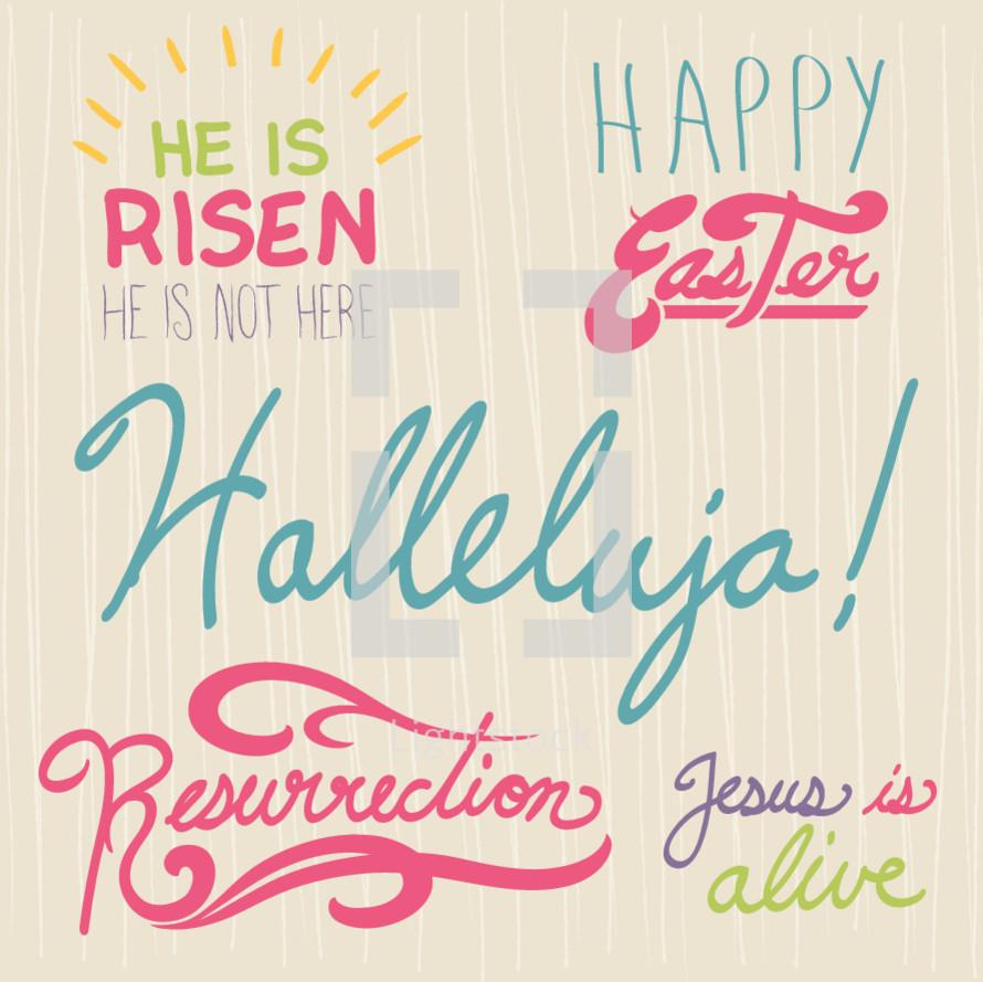 He is risen, resurrection, Jesus is alive, hallelujah, Happy Easter