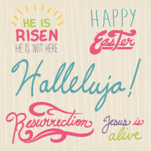 He is risen, resurrection, Jesus is alive, hallelujah, Happy Easter