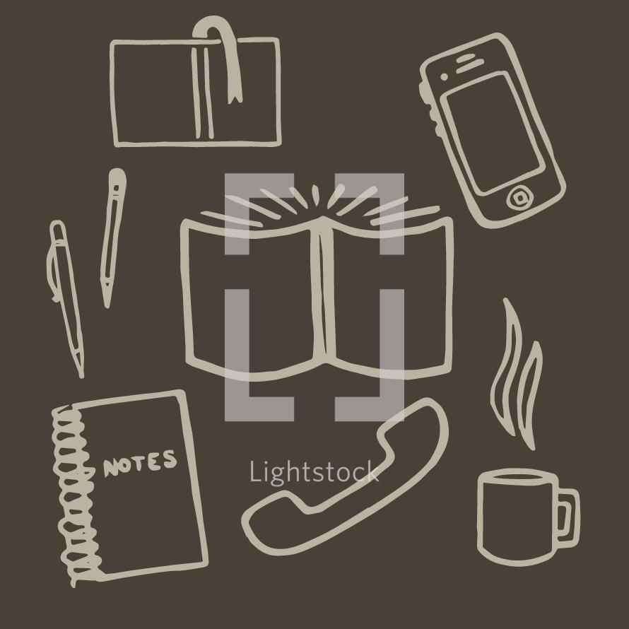 BIble Study Elements icons