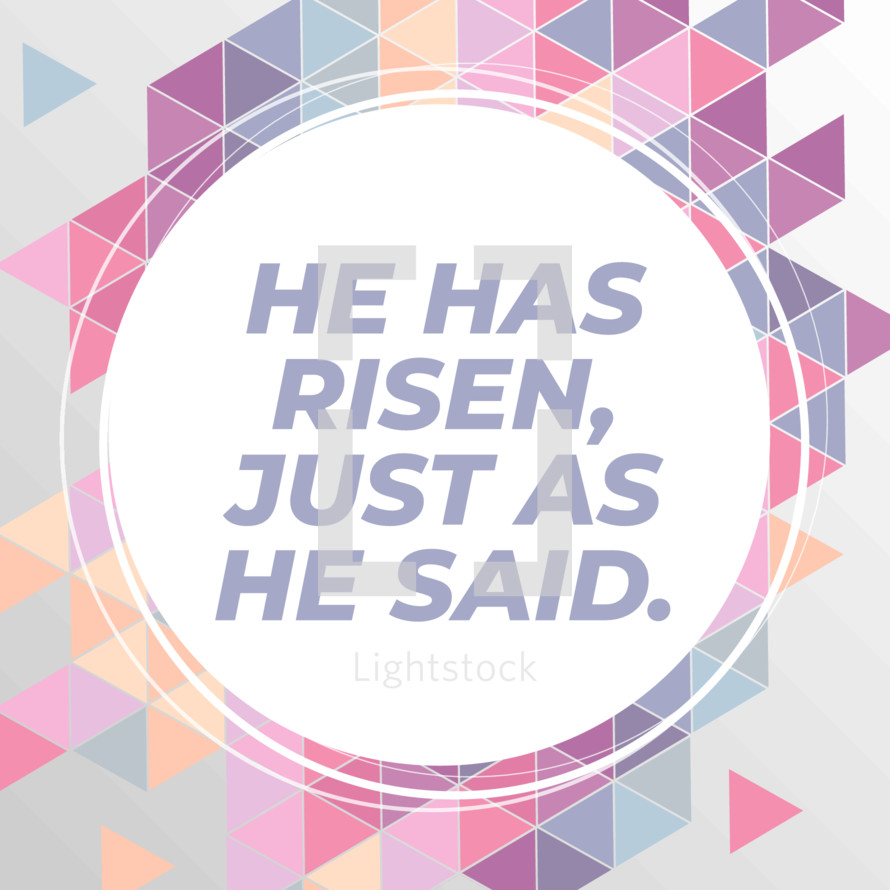 Resurrection Easter Sunday He Has Risen