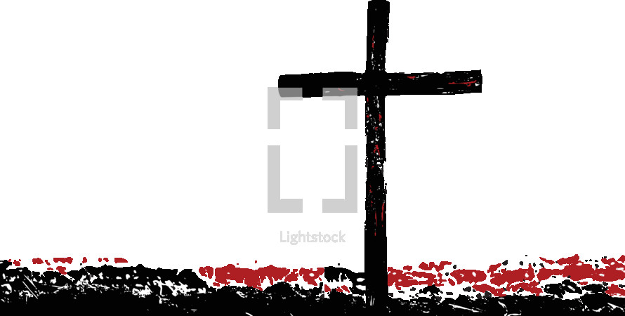 cross in red and black
