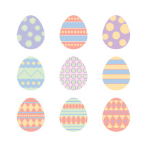 Easter eggs Illustrations.