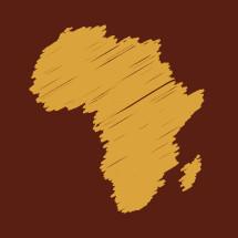 Africa scribble illustration.