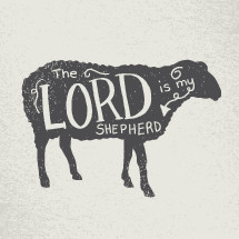 sheep - the lord is my shepherd