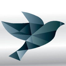 A geometric style dove representing freedom and the Holy Spirit.