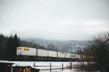 train box cars on the tracks