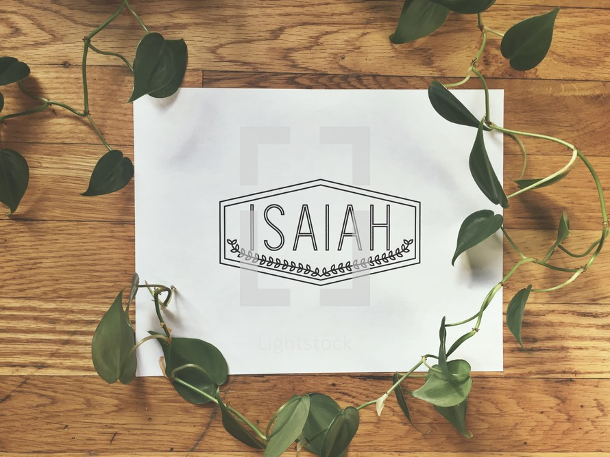 Isaiah sign and ivy