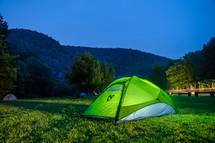 tent at a campsite
