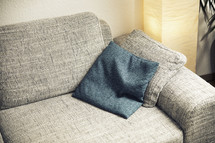 throw pillow on a couch