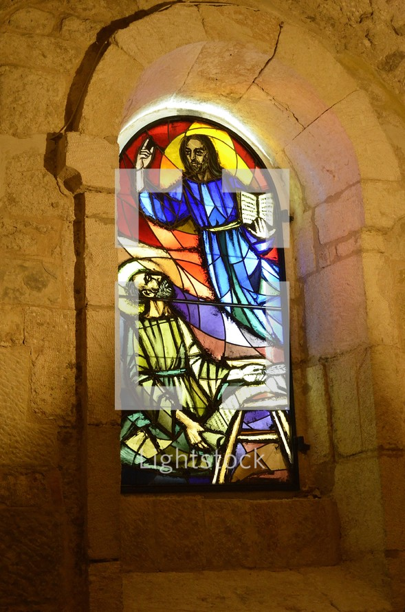Stained glass at the Church of the Nativity