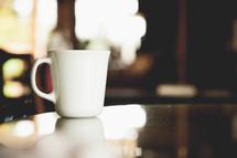 a coffee mug on counter