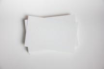 white blank paper