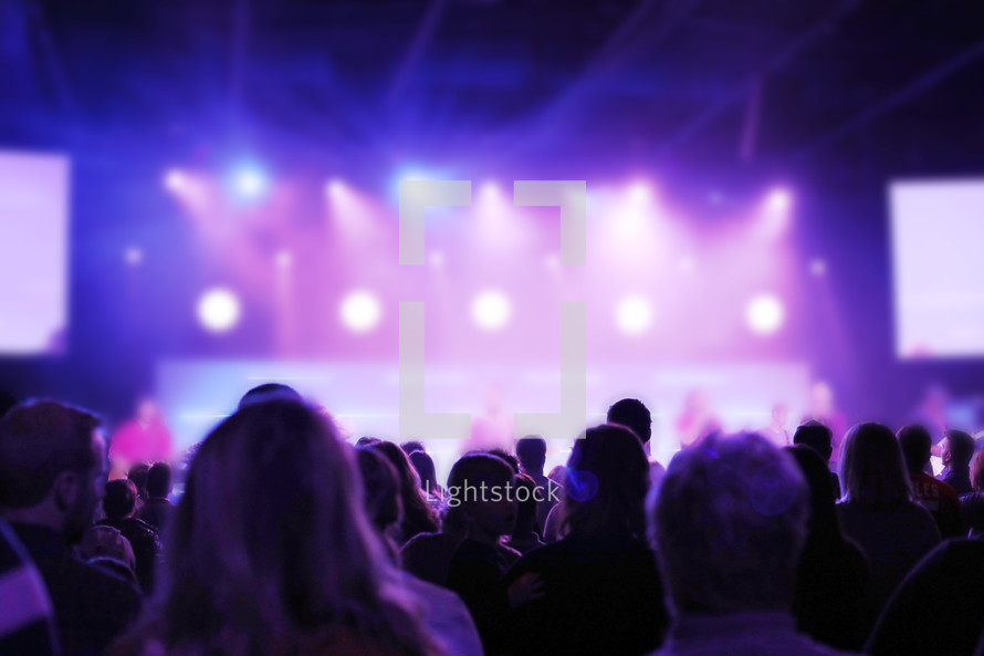 audience at a contemporary worship service
