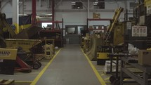 machinery in a warehouse
