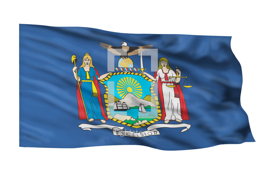 State flag of New York.