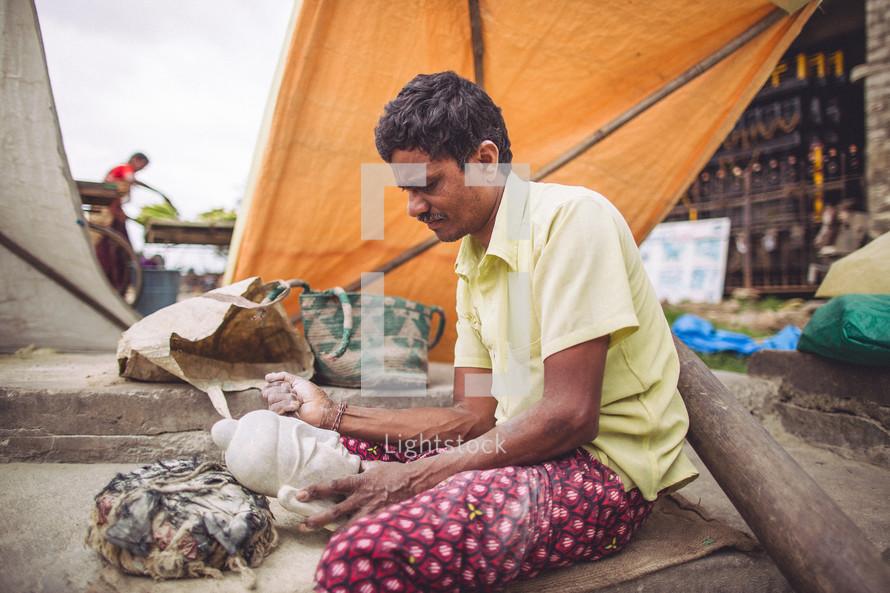 poor in India