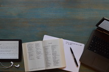 modern bible study with technology of Isaiah