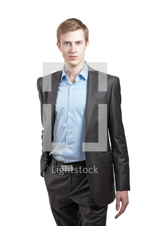 Man in a suit.