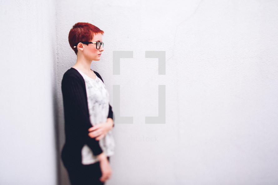 woman with a pixie haircut
