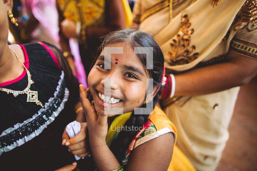 happy child in India