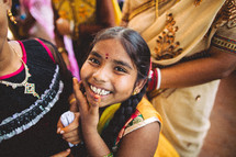 happy child in India