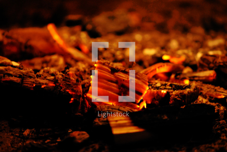 hot red embers