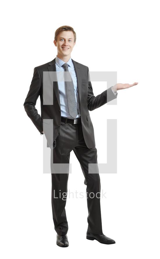 Cheerful businessman.