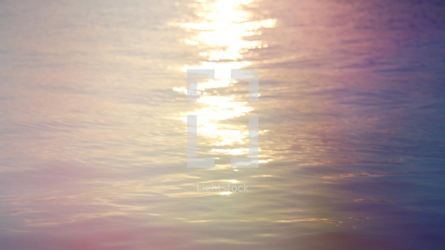 sunlight on water