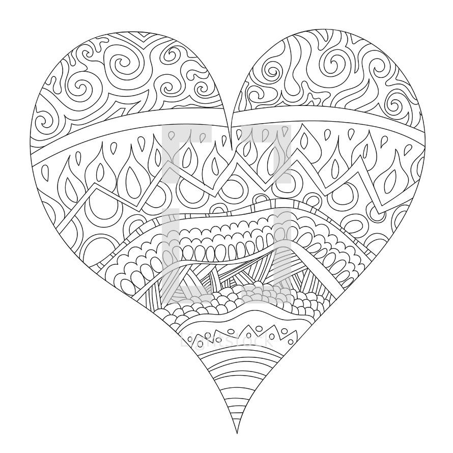 heart coloring sheet