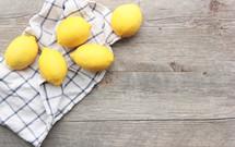 lemons on a hand towel