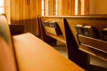 Bibles and Hymnals in pews