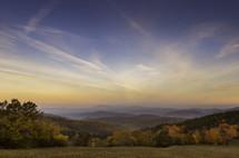 fall mountain range