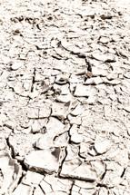 parch clay soil