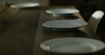 plates on a dining room table