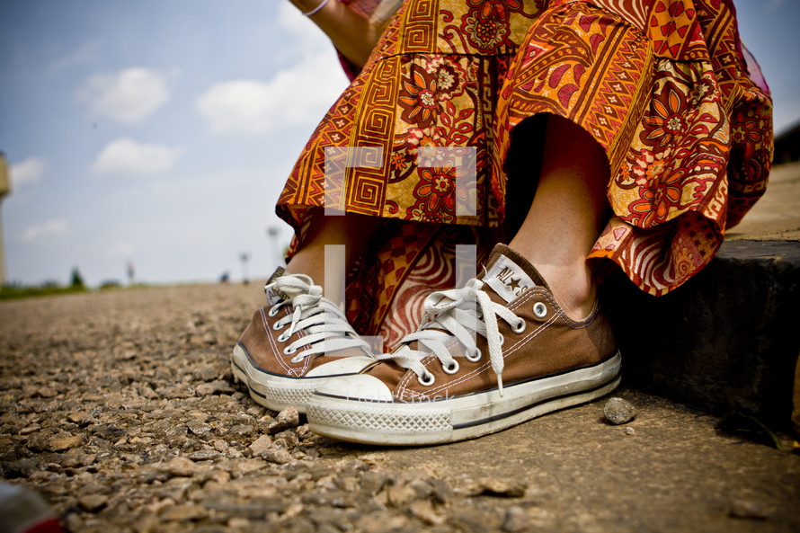 A girls shoes in Uganda