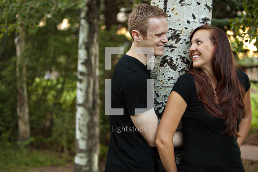couple against tree