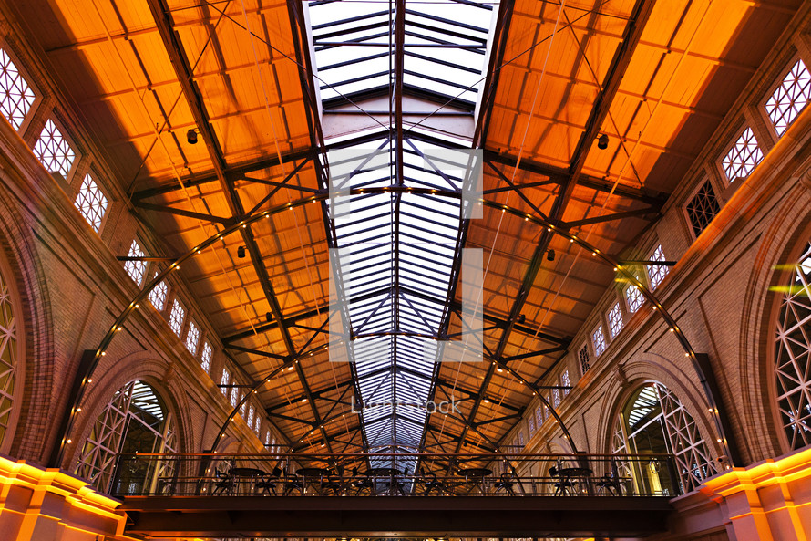 Indoor train station ferry building terminal  architecture
